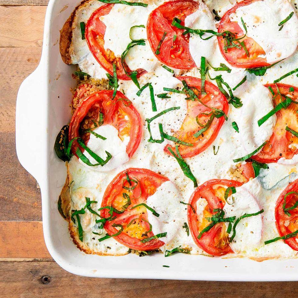 Tomato and Mozzarella Quinoa Bake